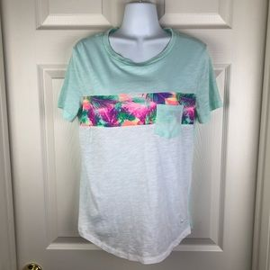 PINK Victoria's Secret Tropical Pocket T-Shirt S
